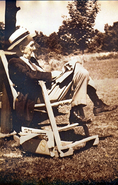 Dr. H.B. Thomas in his rocker
