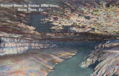 Historic Postcard-Hidden River-Hidden River Cave-KY