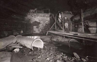 Old Dam Inside Hidden River Cave