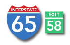 Interstate 65 to Exit 58-Horse Cave, KY